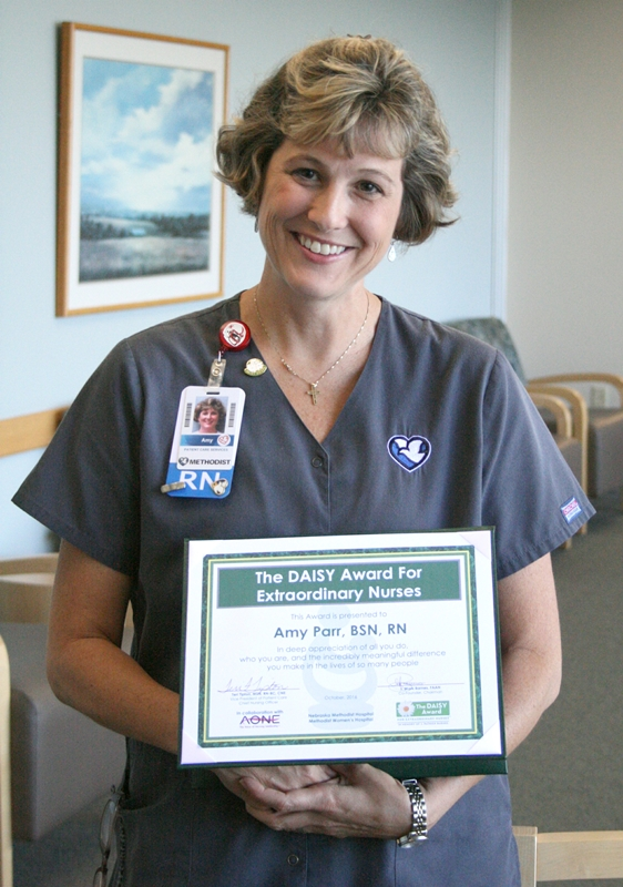 Amy Parr Is October DAISY Award Winner | Methodist Health System