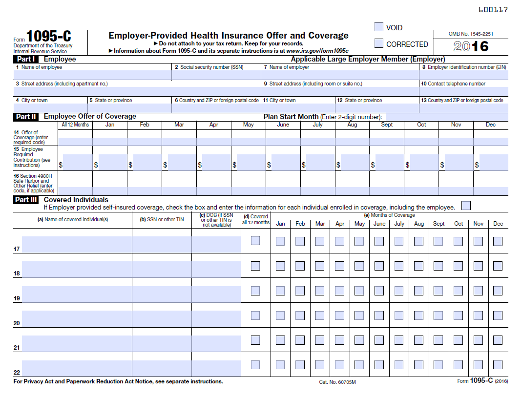 UPDATED: Affordable Care Act - Form 1095-C | Methodist Health System